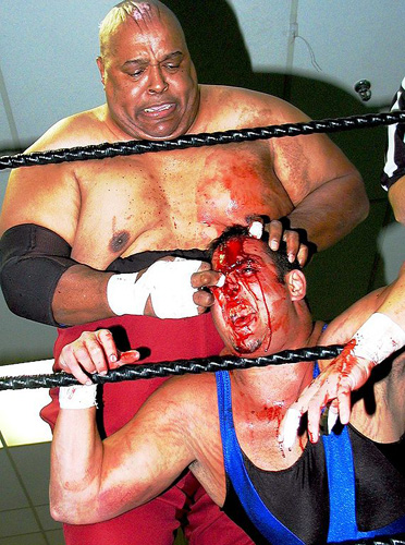 4. Abdullah the Butcher. Also known as the Madman From The Sudan, this guy is one of the most rugged semi-professional Canadian wrestlers ever.