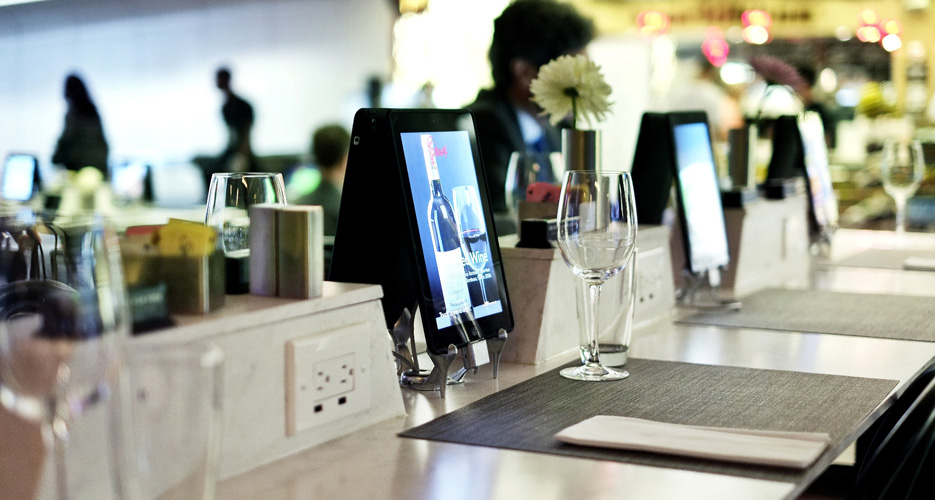 Bisoux, in LaGuardia's Terminal D, has installed iPads to speed up the ordering process.