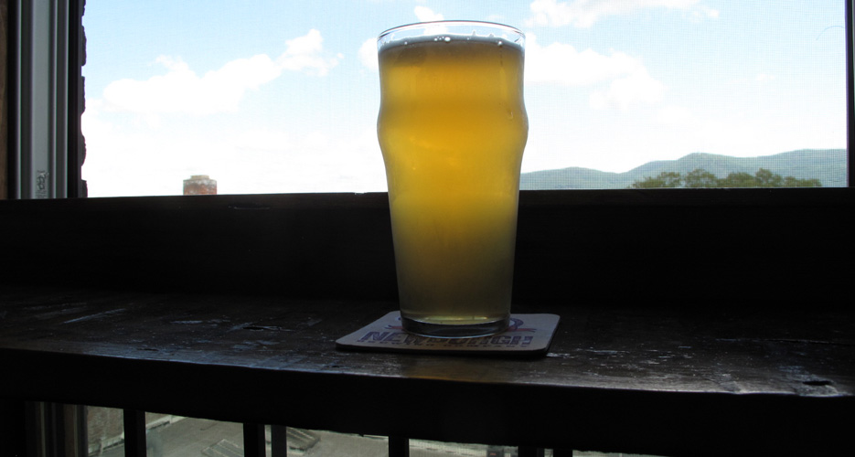 Saison with a view at Newburgh Brewing Co.
