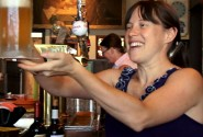 Sarah Pederson of Saraveza Bottle Shop & Pasty Tavern (photo: Lingering Illocutions)