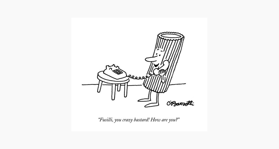 Charles Barsotti (November, 1994). Buy it here.