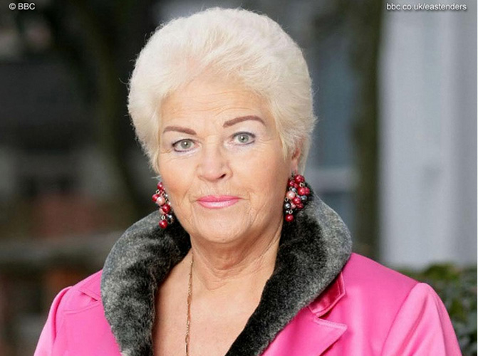 5. Pat Butcher. This battleaxe of a lady has been on the popular British soap opera Eastenders for ages. She has had many jobs, including prostitute and barmaid—but never butcher.