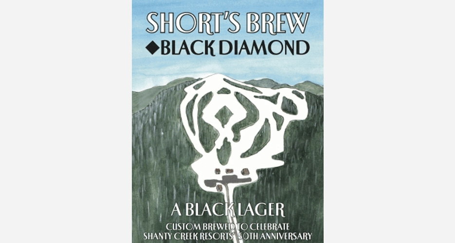 Not everyone will agree with us on this one, but this label is one of our favorites of the year. Trademark Short's Brew simplicity brought to bear on a trail map—the ultimate apres-ski beer. Source