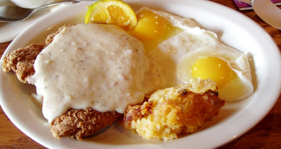 Country Fried Steak at Cracker Barrel