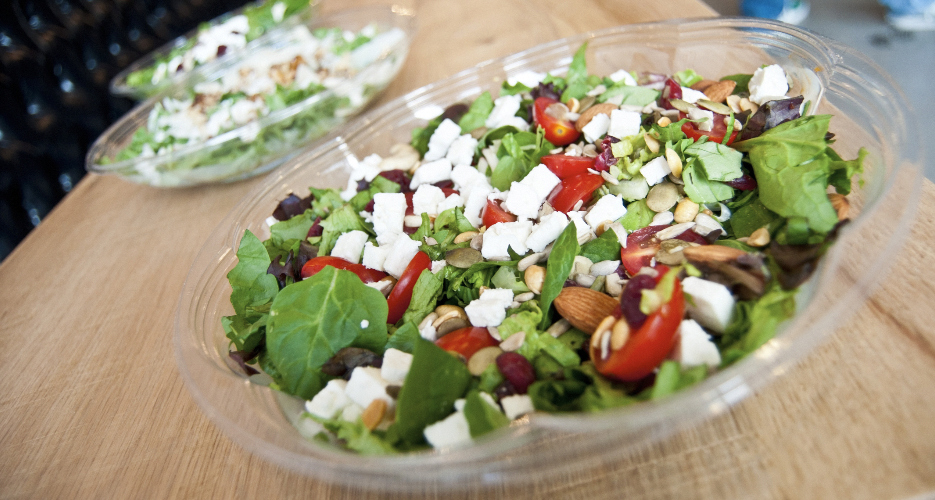 Yes, they have salads too. Good ones.