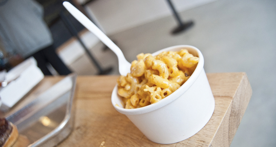 House made mac 'n' cheese, made with sharp cheddar.