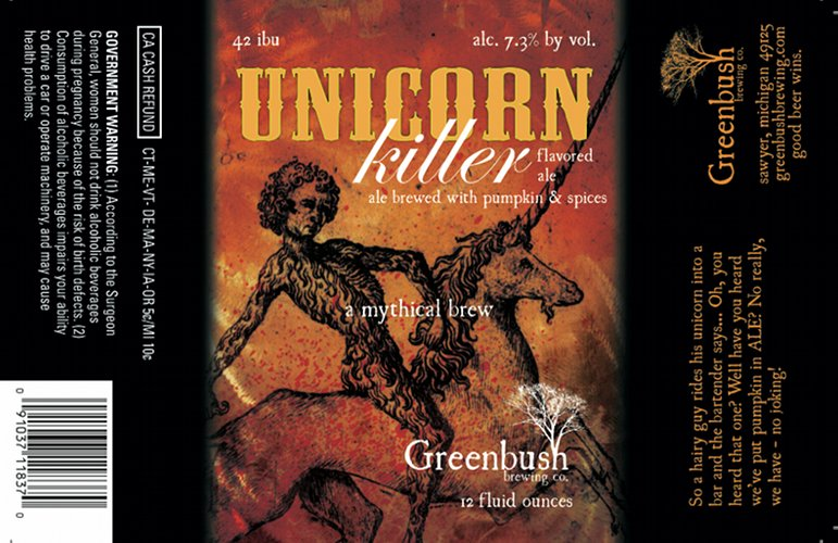 Greenbush does it again: The imagery for the Unicorn Killer (great name) is offbeat and mysterious. Source