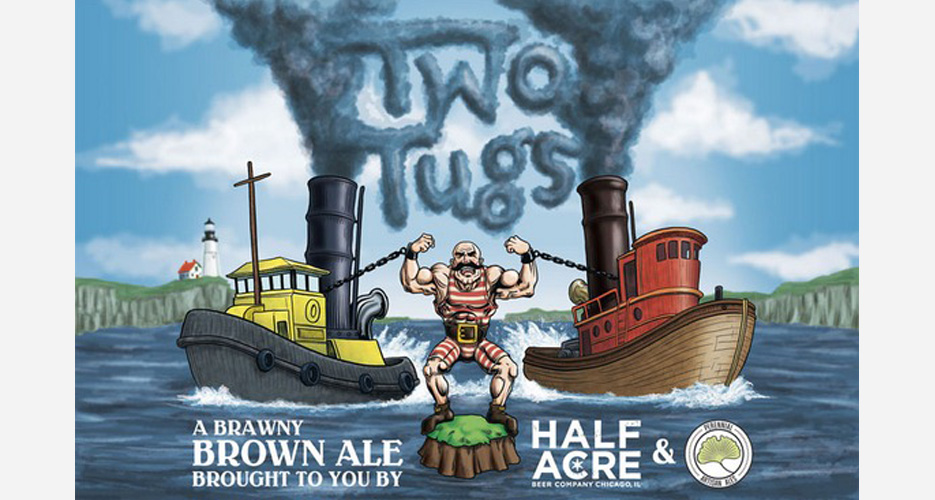 A memorable label for this collabo between Chicago's Half Acre Perennial Artisan Ales out of St. Louis.