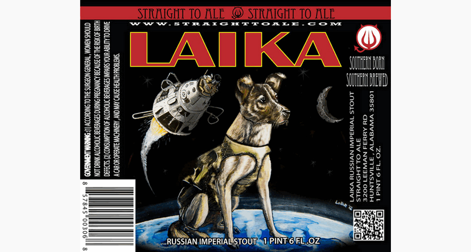 Straight to Ale's Laika label is an example of when a great idea trumps bad artwork.