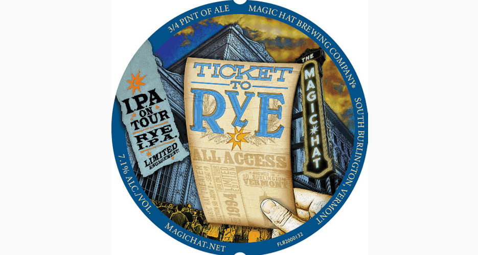 Who doesn't want a ticket to rye? A example of Magic Hat's trademark style.