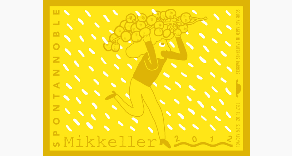 Danish gypsy brewery Mikkeller makes all its own labels, and this one's a beautiful representation of Mikkel Borg Bjergso's aesthetic.