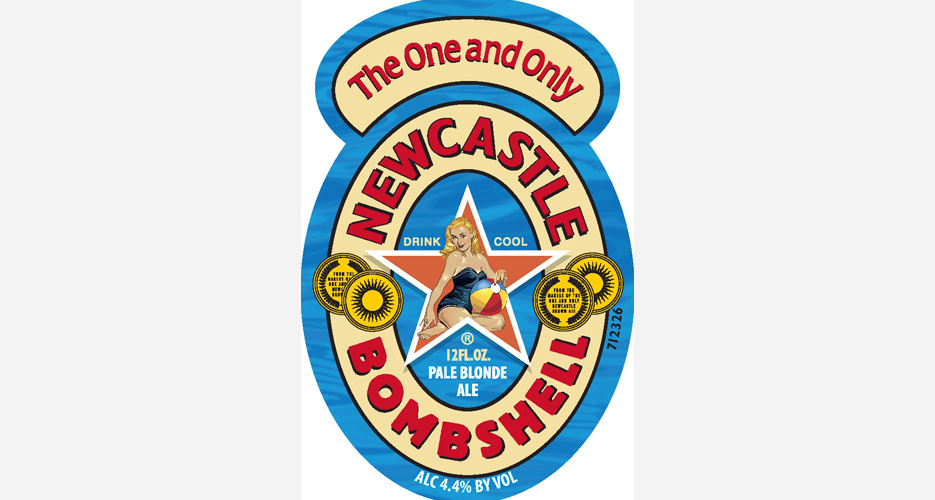 To complement the brown ale, Newcastle is adding a blonde to the lineup next year. The Newcastle logo is a classic in our opinion, and the simple tweak here both obvious and fun.
