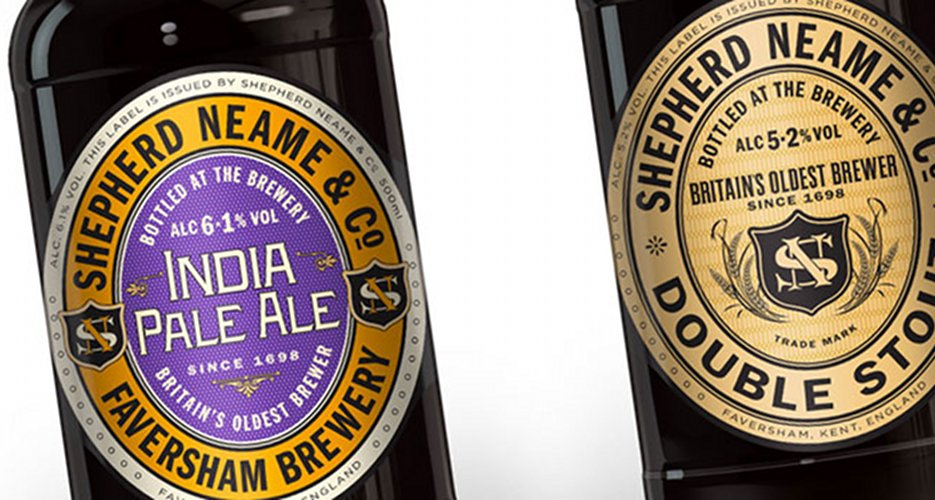 SAA Design did a nice job of creating an updated look for Faversham's histories Shepherd's Neame collection. Source