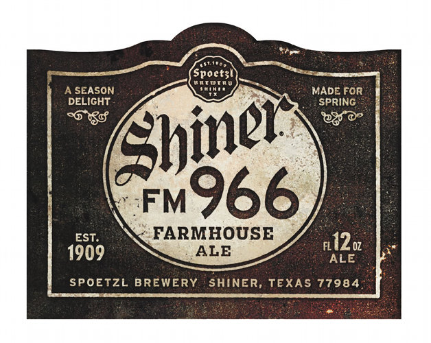 The retro, weathered look works well for Shiner; it kind of reminds us of the opening credits of an old black-and-white flick. Source