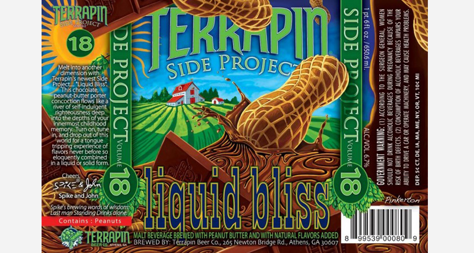 Georgia's Terrapin always brings the funk with its labels, and this one's no different. Funky beer, too—a porter brewed with peanut butter and chocolate. Source