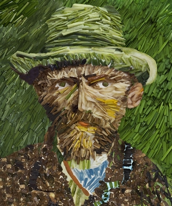 Vincent Van Gogh Made of Leek. Ju Duoqi, 2008.
