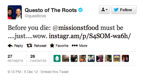 Endorsement #4: Questlove of the Roots (