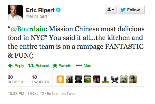 Endorsement #19: Eric Ripert, celebrity chef