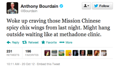 Endorsement #3: Anthony Bourdain, host of No Reservations