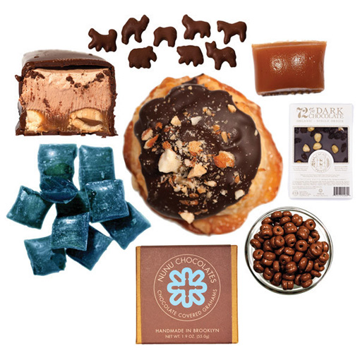 New York Mouth artisan gift sets. This new company curates packages of local New York products so that you don't have to traipse around the flea markets picking up small-batch chocolates and artisanal candy canes. From $45.