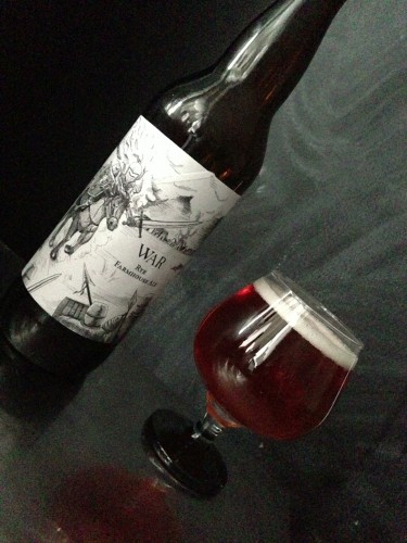 "The second installment of Backlash Beer Company's Apocalypse Beer Series is simply titled ""War."" Badass."