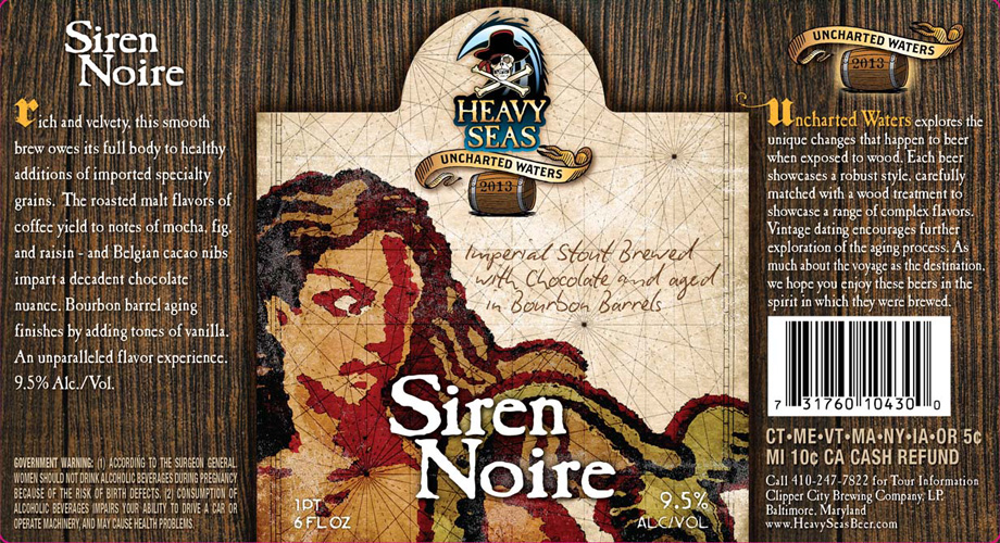 Heavy Seas has a lot of great labels. This one does a great job of channeling the aesthetic of an antique seafaring map while still feeling modern.