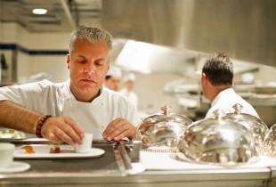 Le Bernardin Chef Eric Ripert in the kitchen