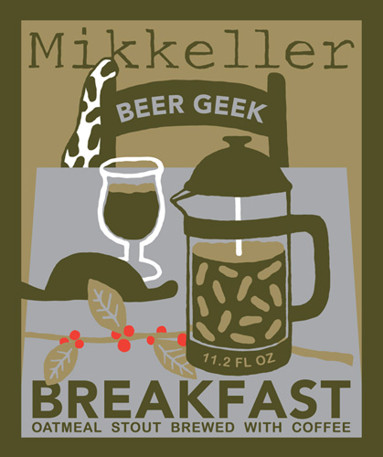 Great update on the Breakfast Geek label from Mikkeller—the French press is crucial.
