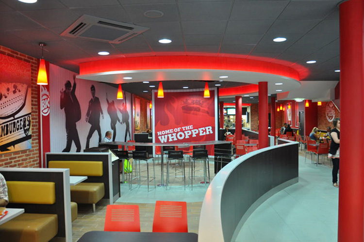 A look at high design fast food joints around the world for Fast food decoration