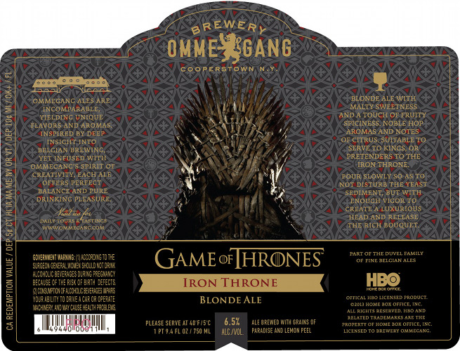 It was announced this week that Ommegang will be releasing a beer inspired by Game of Thrones. 'Nuff said.
