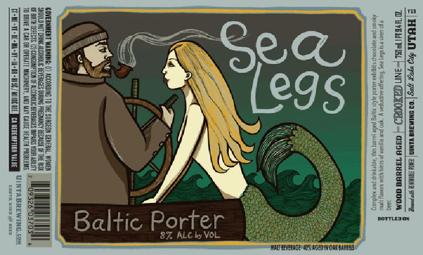 We've seen a lot of seafaring imagery recently on beer labels, but this painterly rendition is among the best.