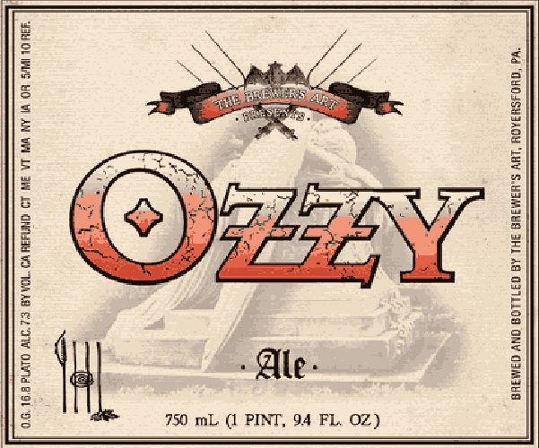 """The Brewer's Art Ozzy. Brewer's Art, a cultish brewpub in Baltimore, dedicated this Belgian-style pale ale to rock legend Ozzy Osbourne. The brew has a """"world-class"""" rating from Beer Advocate's Alstrom Brothers, and you can buy it in 750ml bottles. (Photo:"""