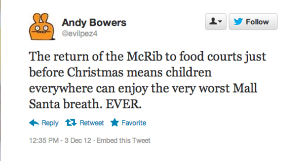 Does the McRib give you any worse breath than Sbarro garlic knots?