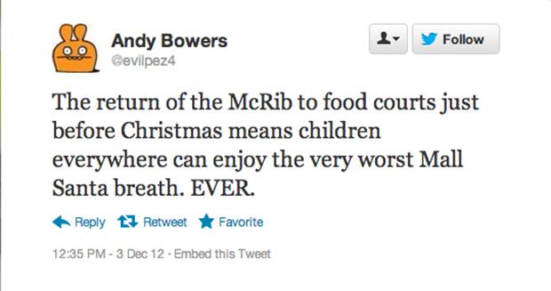 Does the McRib give you any worse breath than Sbarro garlic knots?