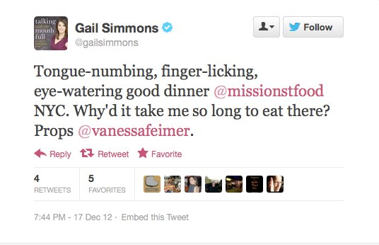 Endorsement #6: Gail Simmons, Top Chef judge