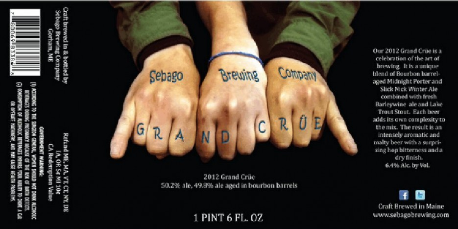 """Gnarly, dude! A little obvious with the """"Grand Crüe"""" pun, but fun nonetheless. Source"""