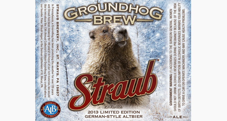 Any beer label with a groundhog automatically wins.