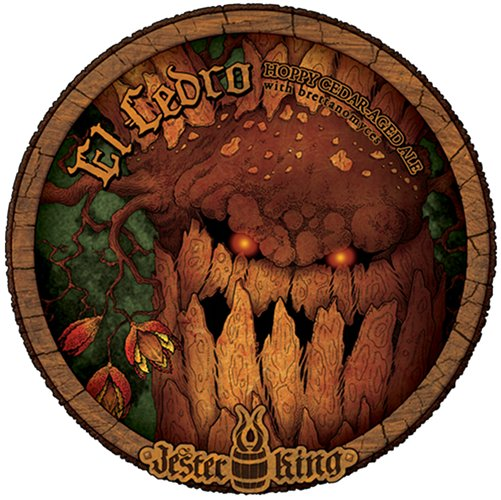 Jester King is unstoppable with its labels—this nefarious Spanish cedar looks like something out of Lord of the Rings.