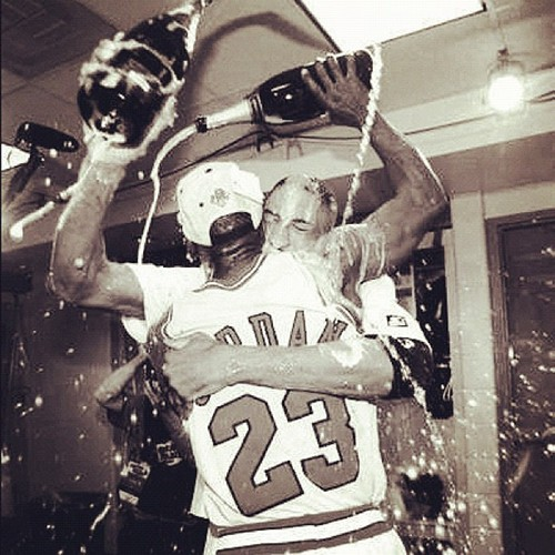 The Michael Jordan way, part 3: Always reciprocate a champagne shower.