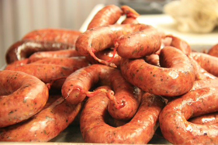 Kreuz Market sausages. Straight out of the heart of Texas BBQ country, these sausages—especially the jalapeno-cheese variety—are among the best we've ever had. From $1.80 each.