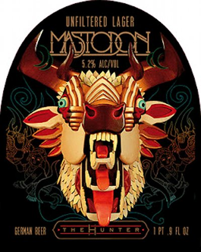 Mahrs Bräu Mastadon Lager. Perhaps one of the most pedigreed music-beer collabos yet, this unfiltered lager was custom-made by Mahrs, a centuries-old brewery in Bamberg. It marked the release of The Hunter album by heavy-metal band Mastadon. (Photo: