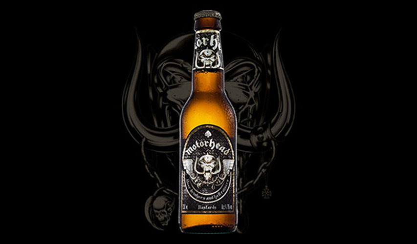 Motorhead's Bastard Lager. This is surely a money-making scheme, especially given the prior release of Motorhead Shiraz, but we'd still love a bottle as a collector's item. (Photo: