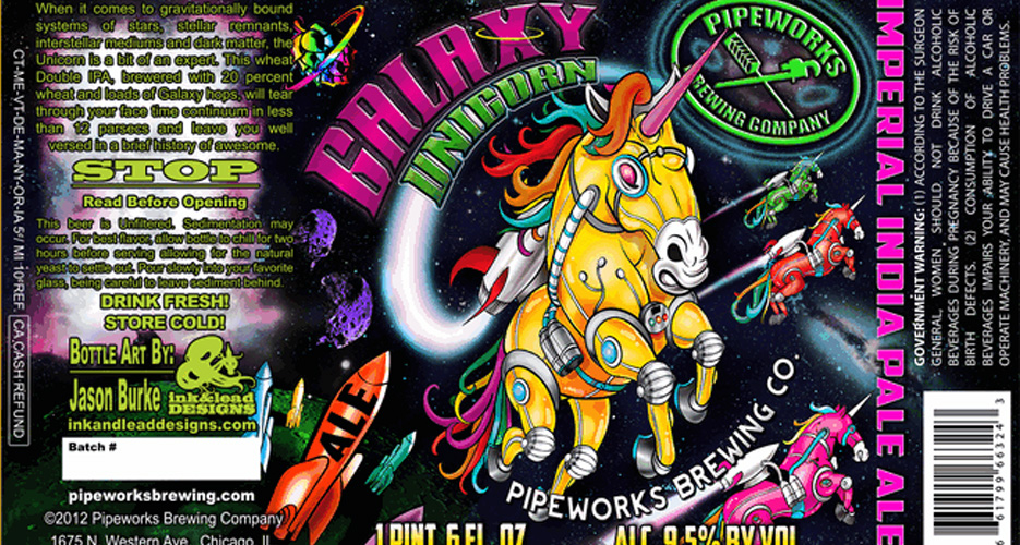 Flying fantasy-creature robots in outer space? Yeah, we'll take a bottle of the Pipeworks Galaxy Unicorn, thank you very much.