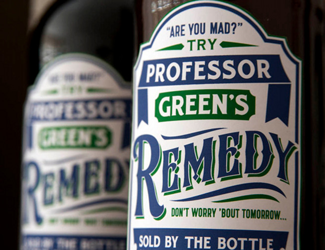 """Professor Green's Remedy. The U.K. rapper teamed up with Signature Brew—a company devoted to exploring music-inspired beer collabos—to create a British ale, released to coincide with his single, """"The Remedy."""" (Photo:"""