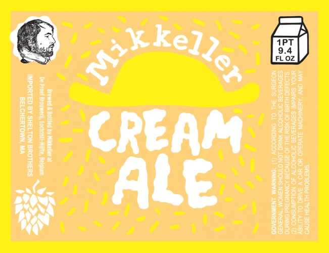 It's cool to see Mikkeller making a throwback American style like cream ale. It's also cool that he gave it yet another awesome label.
