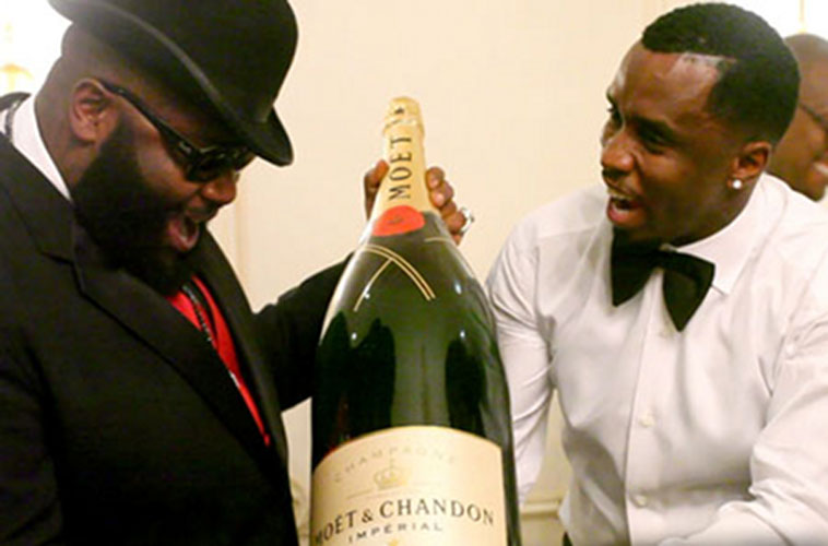 The Diddy and Rick Ross way: Sharing is caring.
