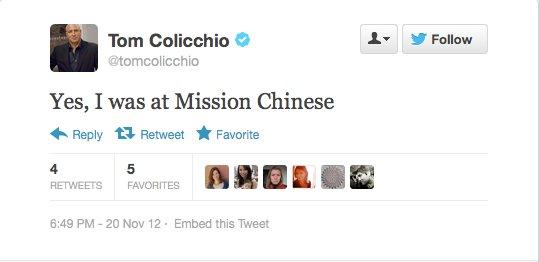 Endorsement #12: Tom Colicchio, celebrity chef
