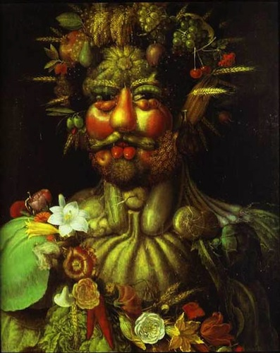 Vertumnus. Giuseppe Arcimboldo, 1590.