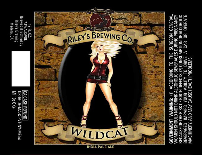 This week's so bad it's good award goes to Riley's Brewing Co. for its all-American ode to sexy ladies, who look like they stepped straight out of a late-'90s video game. Other beers in the series include Vixen and Cougar.