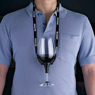 The Wine Glass Holder Necklace is a hands-free solution to never losing track of which glass is yours. $24.95